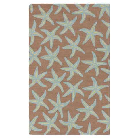 Gwynn Handmade Starfish Indoor/outdoor Area Rug - 9' x 12' by Havenside Home