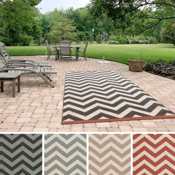 Havenside Home Chatham Chevron Indoor/ Outdoor Area Rug - 8'9 x 12'9