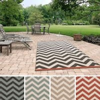 Clay Alder Home Sakonnet Chevron Indoor/ Outdoor Area Rug (8'9 x 12'9)