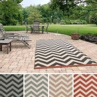 Clay Alder Home Sakonnet Chevron Indoor/ Outdoor Area Rug - 8'9 x 12'9
