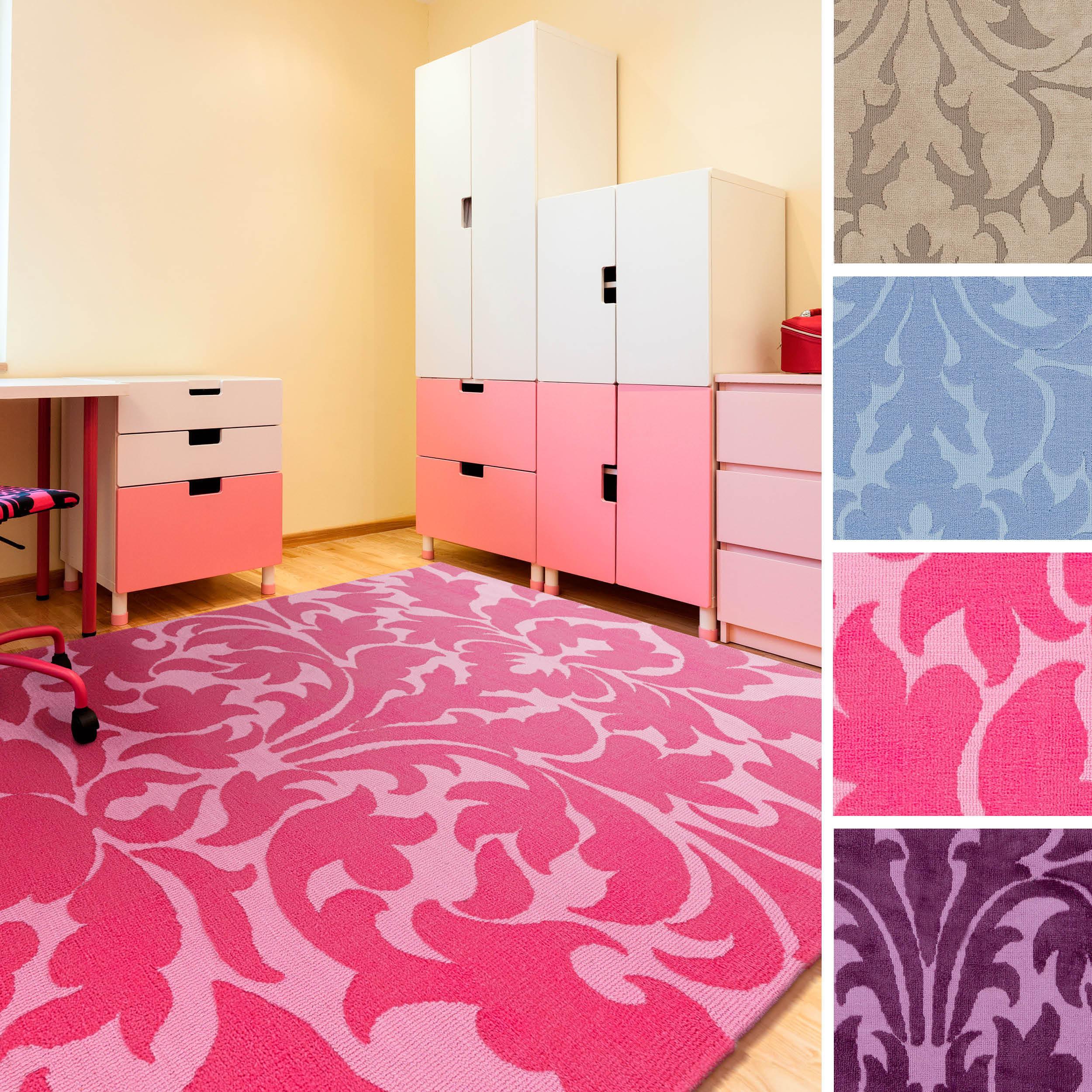 SURYA Meticulously Woven Nice Polyester Damask Area Rug (...