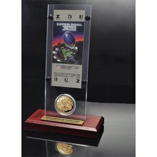 NFL Super Bowl 13 Ticket and Game Coin Collection