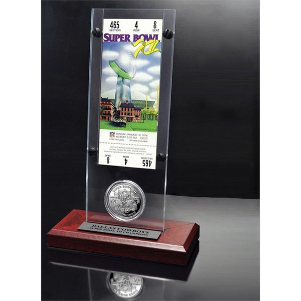 NFL Super Bowl 12 Ticket and Game Coin Collection