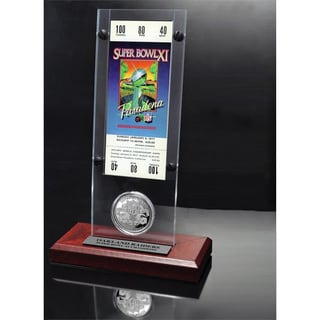 Super Bowl 11 Ticket and Game Coin Collection