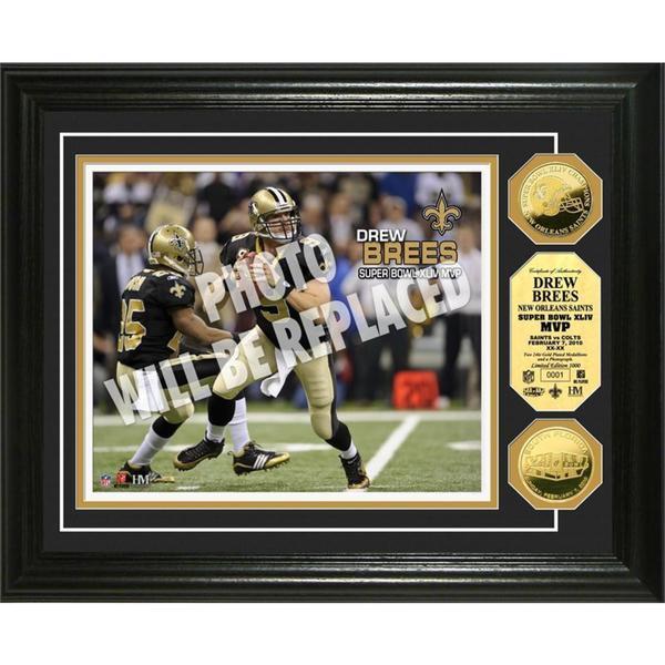 NFL Drew Brees Super Bowl 44 MVP Gold Coin Photo Mint