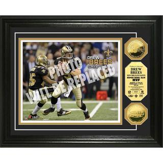NFL Drew Brees Super Bowl 44 MVP Gold Coin Photo Mint