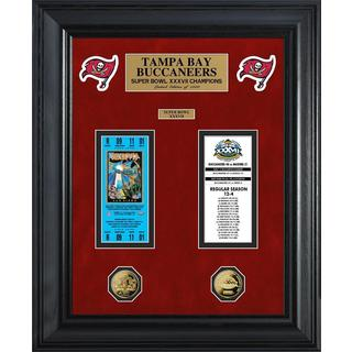 NFL Tampa Bay Buccaneers Super Bowl Ticket and Game Coin Collection Framed