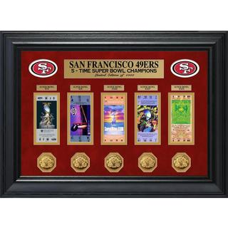 NFL San Francisco 49ers Super Bowl Ticket and Game Coin Collection Framed