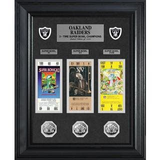 NFL Oakland Raiders Super Bowl Ticket and Game Coin Collection Framed|https://ak1.ostkcdn.com/images/products/9442255/P16627443.jpg?impolicy=medium