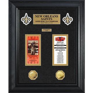 NFL New Orleans Saints Super Bowl Ticket and Game Coin Collection Framed|https://ak1.ostkcdn.com/images/products/9442258/P16627446.jpg?impolicy=medium