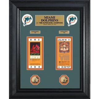NFL Miami Dolphins Super Bowl Ticket and Game Coin Collection Framed|https://ak1.ostkcdn.com/images/products/9442259/P16627447.jpg?impolicy=medium