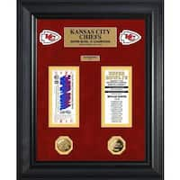 NFL Kansas City Chiefs Super Bowl Ticket and Game Coin Collection Framed