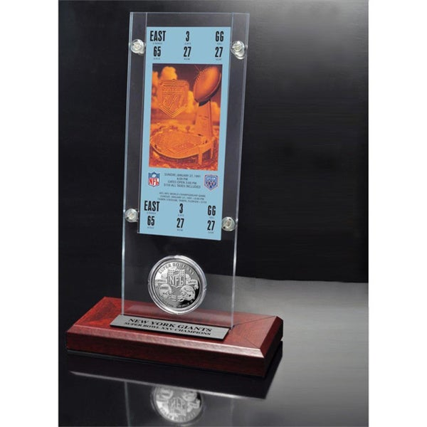NFL Super Bowl 25 Ticket and Game Coin Collection