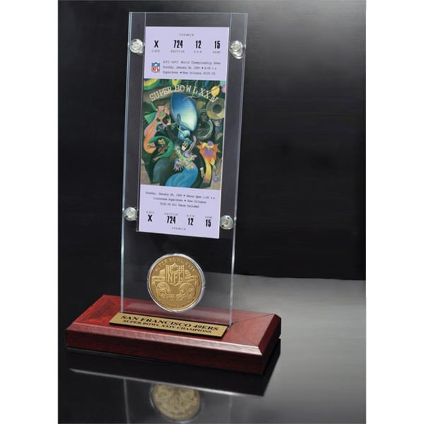 NFL Super Bowl 24 Ticket and Game Coin Collection