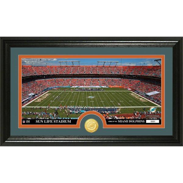 "NFL Miami Dolphins ""Stadium"" Bronze Coin Panoramic Photo Mint"