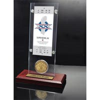 NFL Super Bowl 20 Ticket and Game Coin Collection