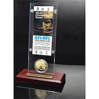 NFL Super Bowl 1 Ticket and Game Coin Collection