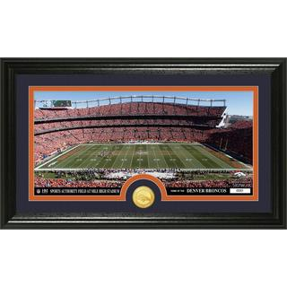 "NFL Denver Broncos ""Stadium"" Bronze Coin Panoramic Photo Mint"