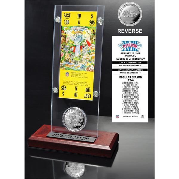 NFL Super Bowl 18 Ticket and Game Coin Collection