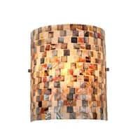 Havenside Home Fenwick Sea Shell Mosaic and Glass 1-light Wall Sconce