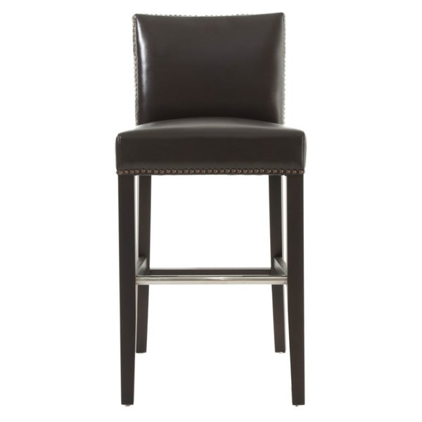 Counter stools set of 2 grey leather safavieh com - Aiden Bonded Leather Barstool Free Shipping Today