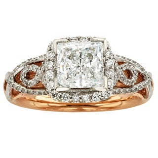 Sofia 14k Gold 1 1/2ct TDW Certified Vintage Diamond Ring (H-I, I1-I2)
