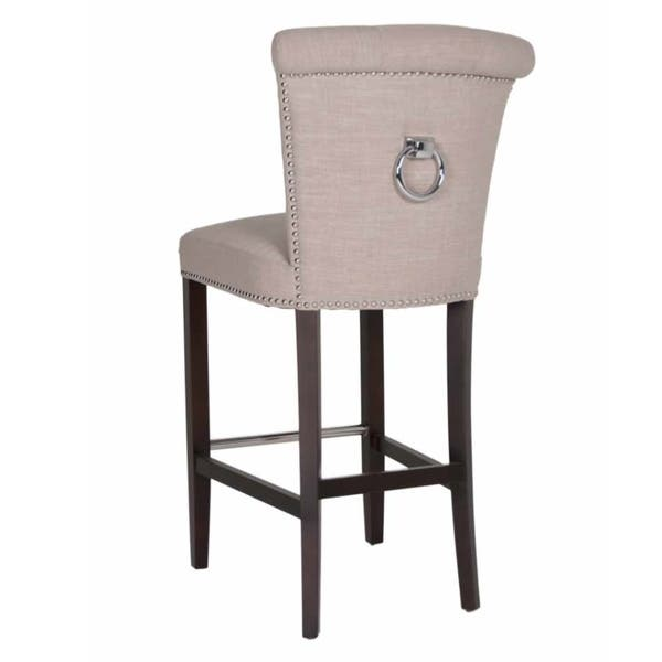 Layla Linen Upholstered 30 Inch Bar Stool On Sale Overstock 9442350