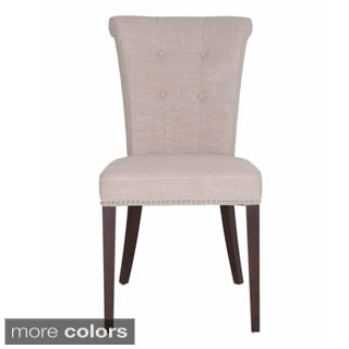 Layla Linen-upholstered Dining Chair (Set of 2)