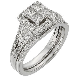 Sofia 14k White Gold 1ct TDW Certified Princess-cut Diamond Ring (H-I, I1-I2)