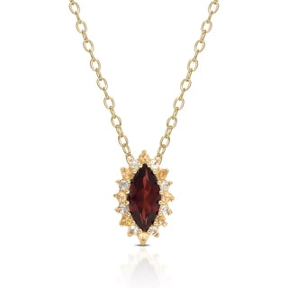 Dolce Giavonna Gold over Sterling Silver Multi-gemstone Necklace