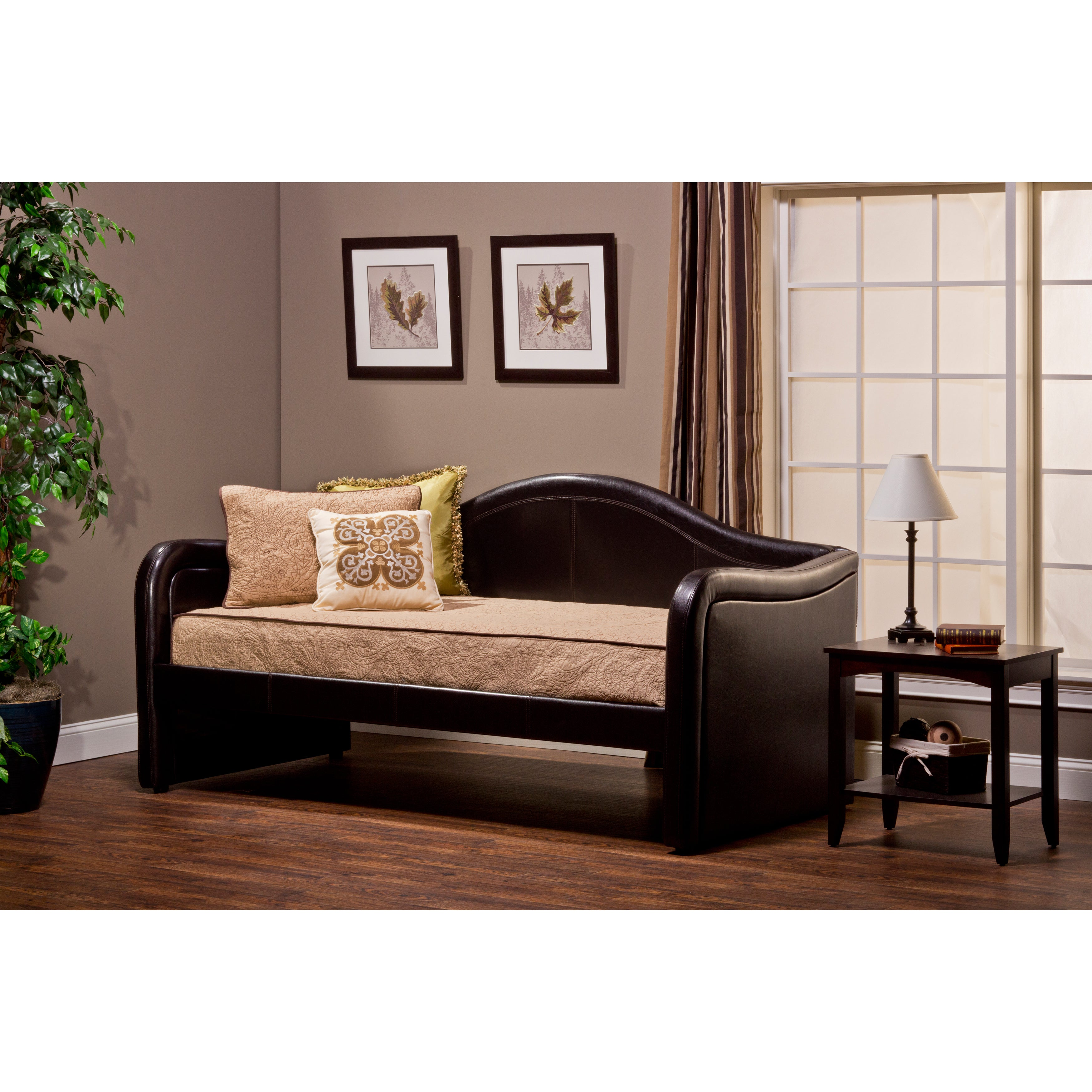 Hillsdale Brenton Daybed (without trundle), Brown, Size Twin