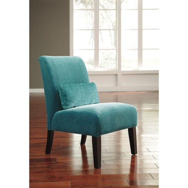 Free Interior Small Accent Chairs For Bedroom For Comfy: Signature Design By Ashley Annora Teal Accent Chair