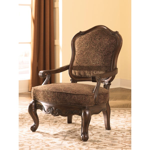 Signature Design By Ashley North Shore Dark Brown Accent Chair