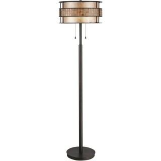 Laguna 2-light Renaissance Copper Floor Lamp