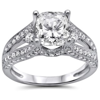 Noori 18k White Gold 2ct TDW Clarity-enhanced Diamond Engagement Ring