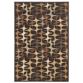 Signature Designs by Ashley Stratus Brown Polyester Rug (5' x 7')
