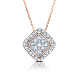 Unending Love 10k Rose Gold Diamond Accent Pendant Necklace