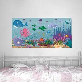 Peel and Stick Ocean Girl Mural
