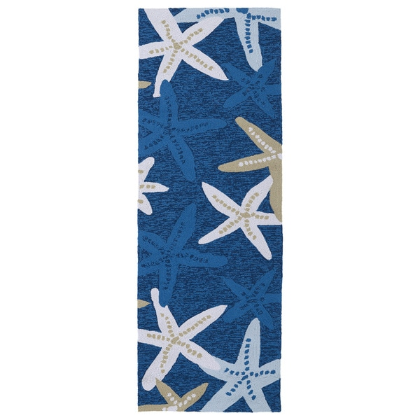 Havenside Home Shi Shi Indoor/ Outdoor Blue Starfish Area Rug (2u0026#x27;