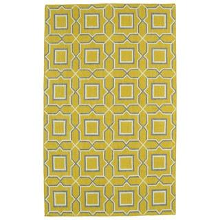 Hollywood Yellow Geo Flatweave Rug (2' x 3') - 2' x 3'