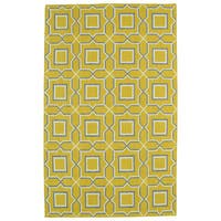 Hollywood Yellow Geo Flatweave Rug (8' x 10')