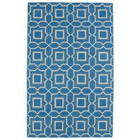 Hollywood Teal Geo Flatweave Rug - 8' x 10'
