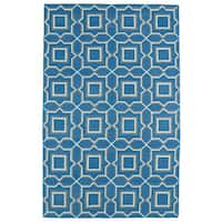 Hollywood Teal Geo Flatweave Rug