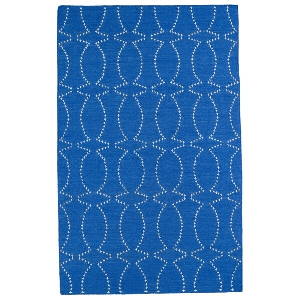Hollywood Blue Stitch Flatweave Rug - 8' x 10'