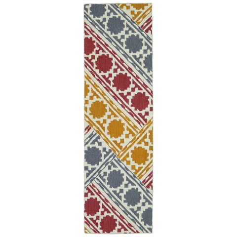 "Hollywood Flatweave Multi Patchwork Rug - 2'6"" x 8'"