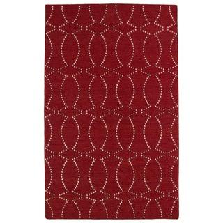Hollywood Red Stitch Flatweave Rug (9' x 12')