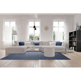 Hollywood Grey Stitch Flatweave Rug (9' x 12')