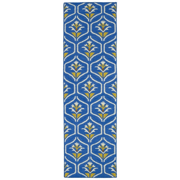 "Hollywood Blue Flatweave Rug - 2'6"" x 8'"