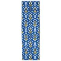 Hollywood Blue Flatweave Rug - 2'6 x 8'