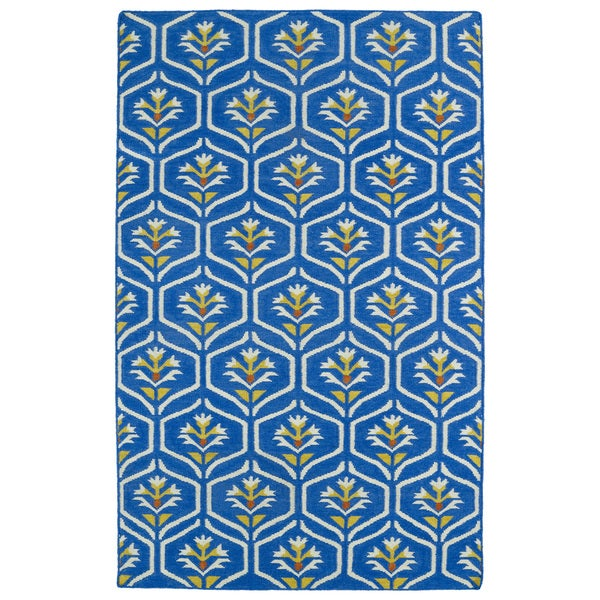 Hollywood Blue Flatweave Rug (9' x 12') - 9' x 12'